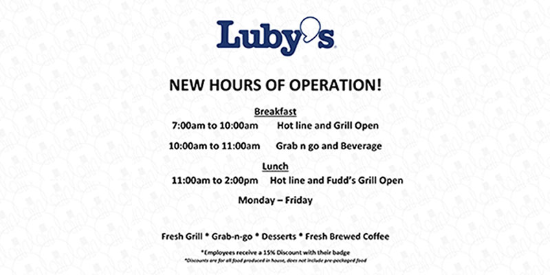 Luby's Hours of Operation