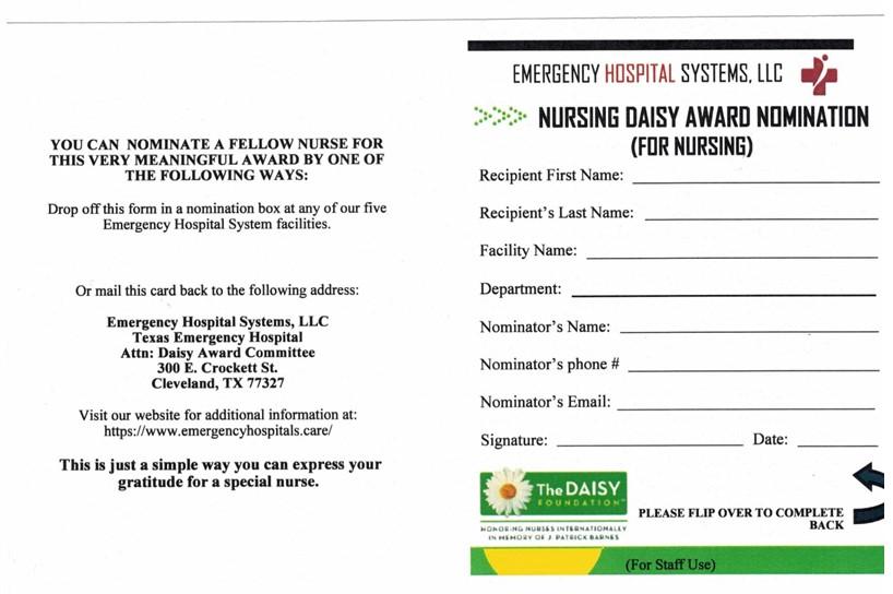 daisy-award-program-form